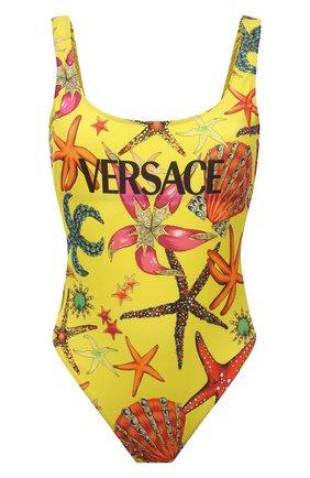 Женский слитный костюм VERSACE желтого цвета, арт. ABD89020/1F01224 | Фото 1