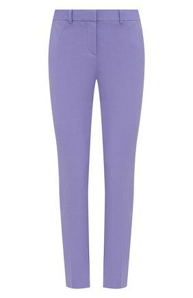 Женские шерстяные брюки VERSACE сиреневого цвета, арт. A89061/1F01050 | Фото 1