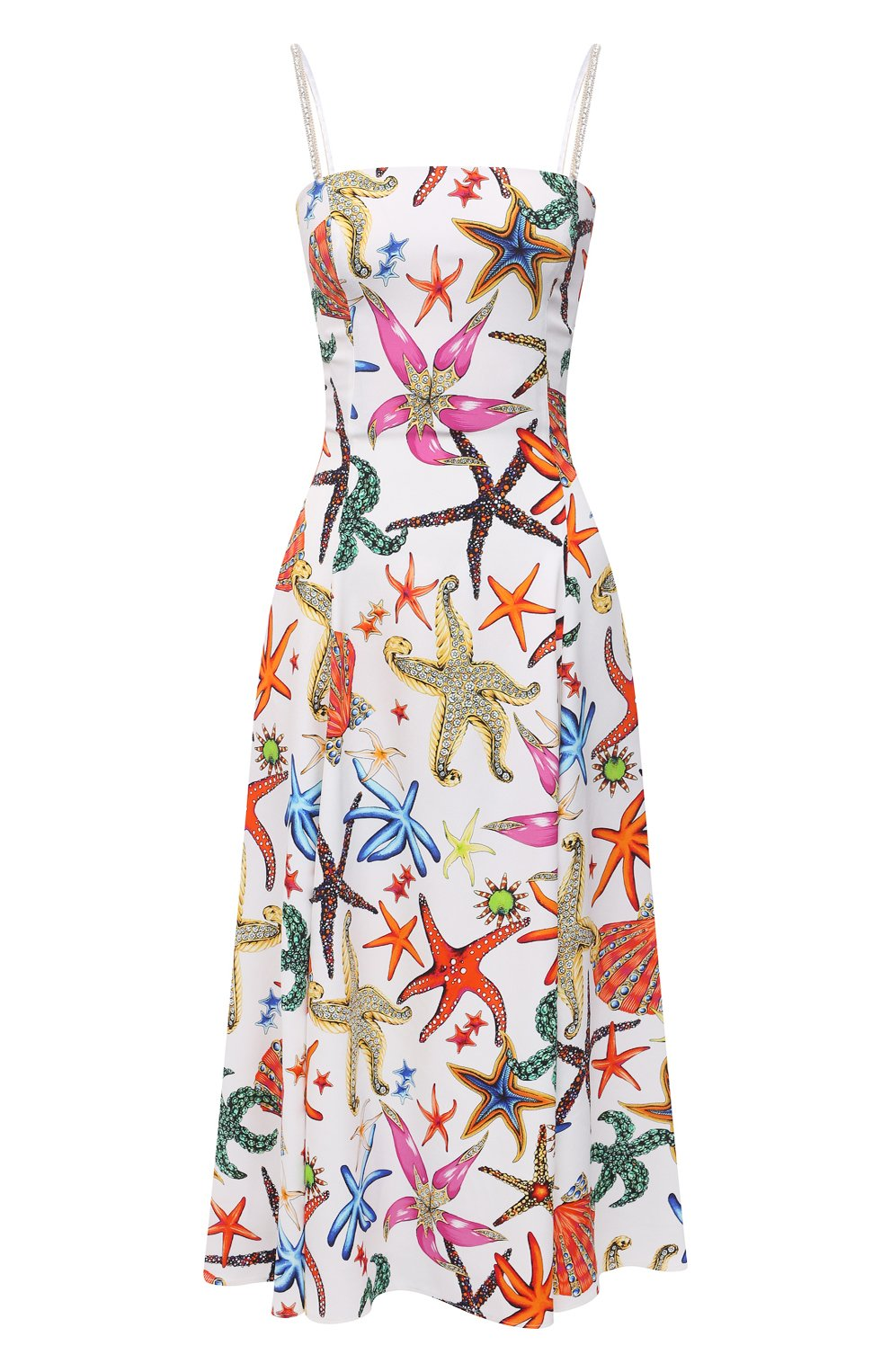 Женское платье из вискозы VERSACE разноцветного цвета, арт. A88933/1F01145 | Фото 1
