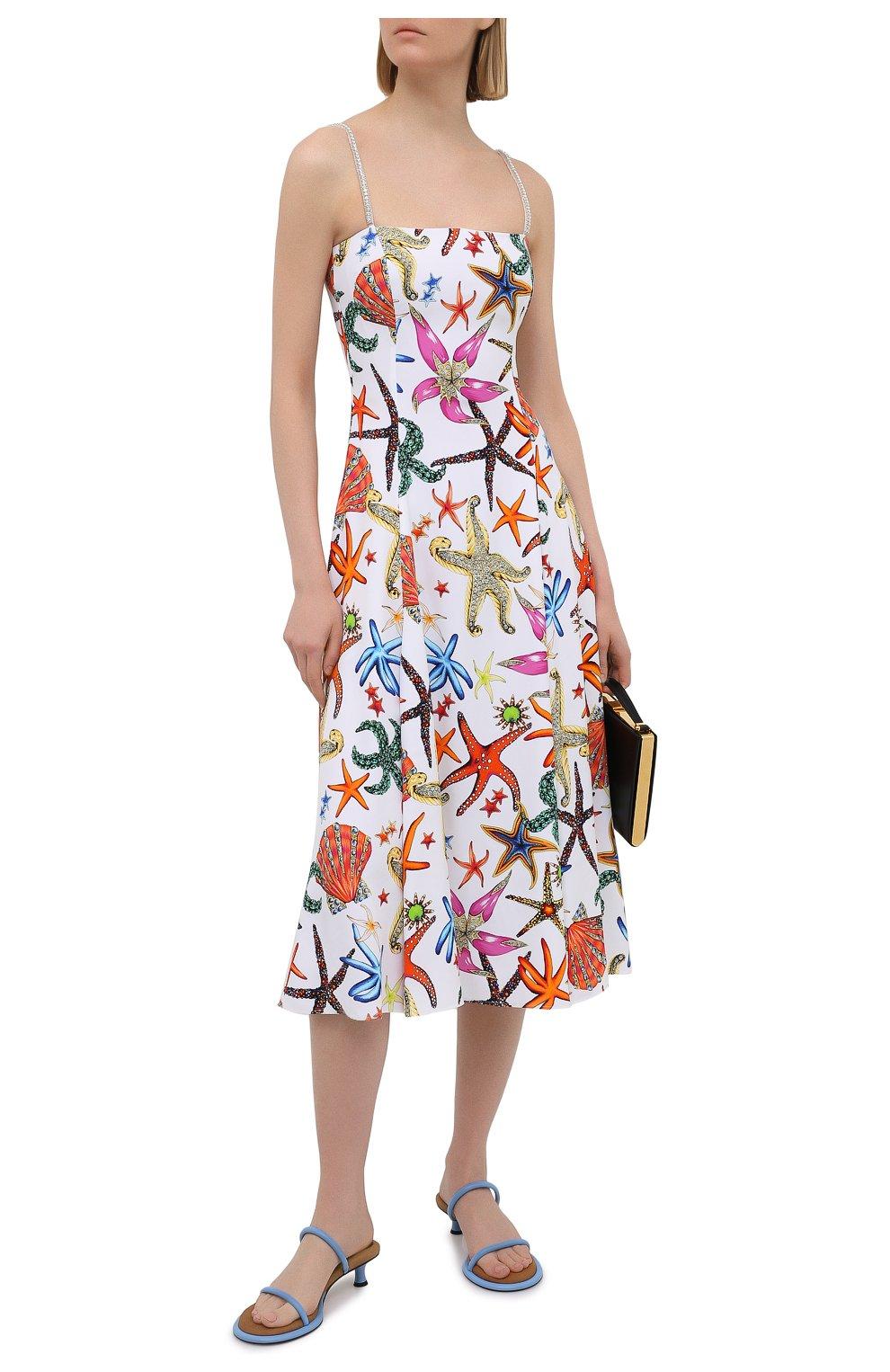 Женское платье из вискозы VERSACE разноцветного цвета, арт. A88933/1F01145 | Фото 2