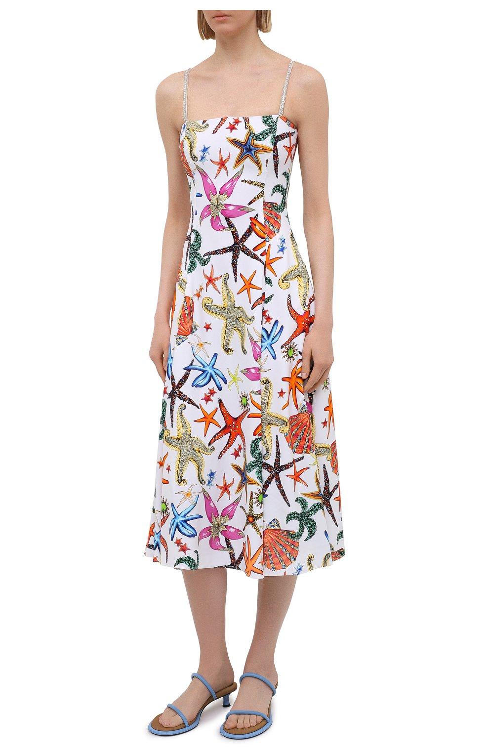 Женское платье из вискозы VERSACE разноцветного цвета, арт. A88933/1F01145 | Фото 3