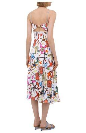 Женское платье из вискозы VERSACE разноцветного цвета, арт. A88933/1F01145 | Фото 4