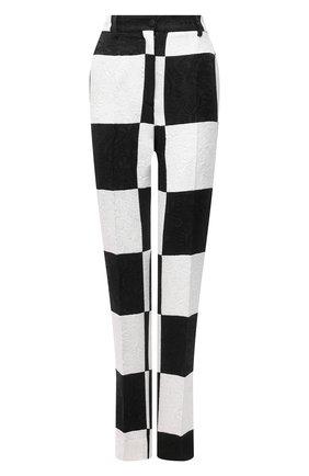 Женские брюки DOLCE & GABBANA черно-белого цвета, арт. FTAM2T/GDX76 | Фото 1