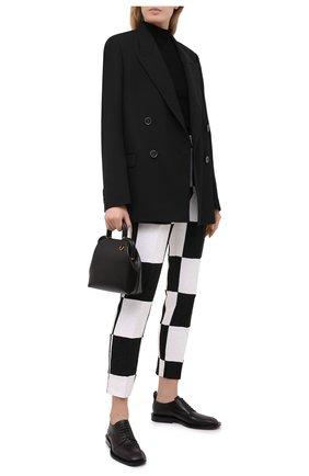 Женские брюки DOLCE & GABBANA черно-белого цвета, арт. FTAM2T/GDX76 | Фото 2
