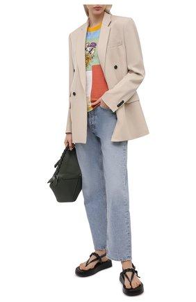Женская хлопковая футболка DOLCE & GABBANA разноцветного цвета, арт. F8N38T/G7YPI   Фото 2