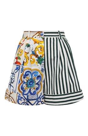 Женские хлопковые шорты DOLCE & GABBANA разноцветного цвета, арт. FTB1GT/GDX67 | Фото 1