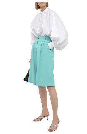 Женские шорты DOLCE & GABBANA светло-зеленого цвета, арт. FTB11T/FURDV | Фото 2