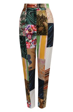 Женские брюки DOLCE & GABBANA разноцветного цвета, арт. FTAM2T/GDX75 | Фото 1