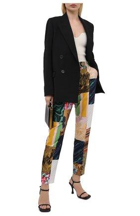 Женские брюки DOLCE & GABBANA разноцветного цвета, арт. FTAM2T/GDX75   Фото 2