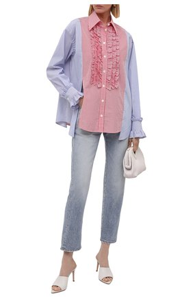 Женская хлопковая рубашка DOLCE & GABBANA разноцветного цвета, арт. F5035T/GDZ03 | Фото 2