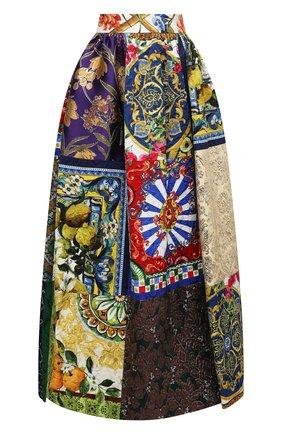 Женская юбка DOLCE & GABBANA разноцветного цвета, арт. F4B10T/GDX74 | Фото 1