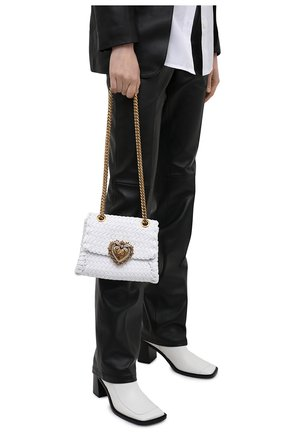 Женская сумка devotion DOLCE & GABBANA белого цвета, арт. BB6877/AX813   Фото 2