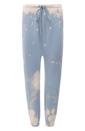 Женские хлопковые джоггеры R13 голубого цвета, арт. R13W9415-57   Фото 1