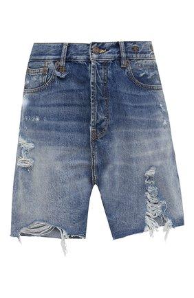 Женские джинсовые шорты R13 синего цвета, арт. R13W6451-969B | Фото 1