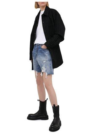 Женские джинсовые шорты R13 синего цвета, арт. R13W6451-969B | Фото 2
