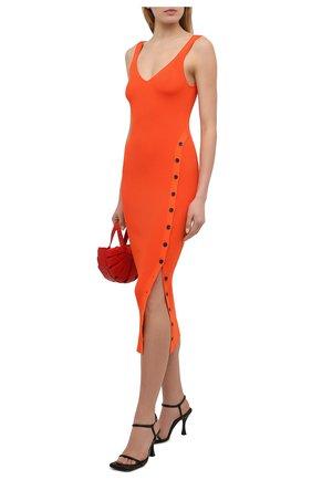 Женское платье SELF-PORTRAIT оранжевого цвета, арт. SS21-090   Фото 2