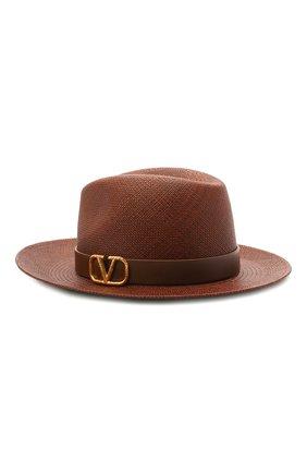 Женская шляпа  VALENTINO коричневого цвета, арт. VW0HAA31/KZN | Фото 1