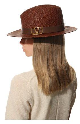 Женская шляпа  VALENTINO коричневого цвета, арт. VW0HAA31/KZN | Фото 2