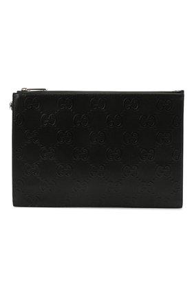 Мужская кожаная папка для документов GUCCI черного цвета, арт. 625569/1W3AN | Фото 1 (Материал: Натуральная кожа)