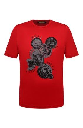 Мужская хлопковая футболка ZILLI красного цвета, арт. MEV-NT270-BUBB1/MC0 | Фото 1