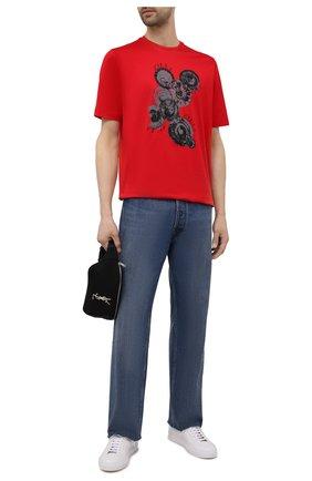 Мужская хлопковая футболка ZILLI красного цвета, арт. MEV-NT270-BUBB1/MC0 | Фото 2