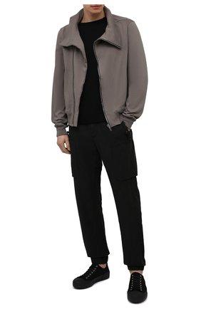 Мужской хлопковая толстовка RICK OWENS серого цвета, арт. RU21S6272/BA | Фото 2
