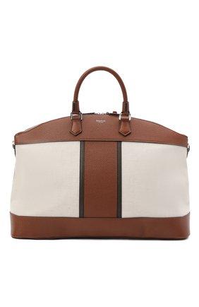 Мужская комбинированная дорожная сумка SERAPIAN кремвого цвета, арт. SRCANMTR692250A | Фото 1