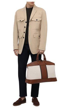 Мужская комбинированная дорожная сумка SERAPIAN кремвого цвета, арт. SRCANMTR692250A | Фото 2