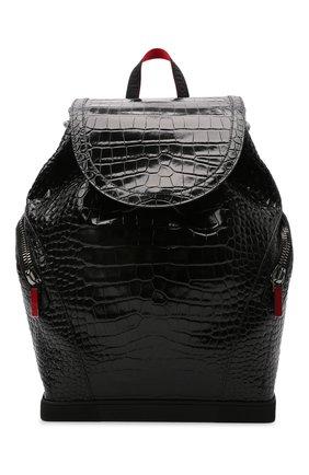 Мужской кожаный рюкзак explorafunk CHRISTIAN LOUBOUTIN черного цвета, арт. 1215011/EXPL0RAFUNK S | Фото 1