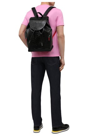 Мужской кожаный рюкзак explorafunk CHRISTIAN LOUBOUTIN черного цвета, арт. 1215011/EXPL0RAFUNK S | Фото 2
