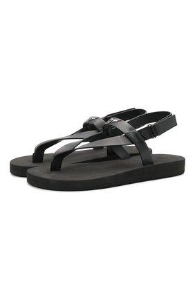 Мужские кожаные сандалии hydra GIUSEPPE ZANOTTI DESIGN черного цвета, арт. EU10013/001   Фото 1 (Материал внутренний: Натуральная кожа)