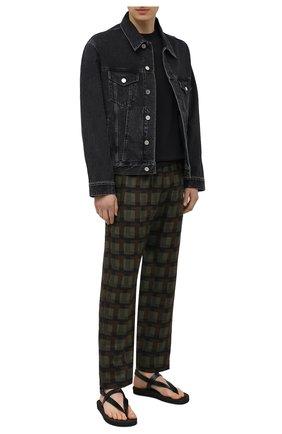 Мужские кожаные сандалии hydra GIUSEPPE ZANOTTI DESIGN черного цвета, арт. EU10013/001   Фото 2 (Материал внутренний: Натуральная кожа)