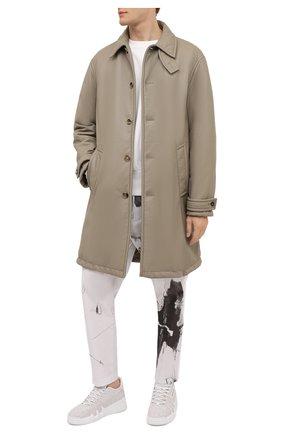 Мужские кожаные кроссовки talon GIUSEPPE ZANOTTI DESIGN бежевого цвета, арт. RM10005/003 | Фото 2