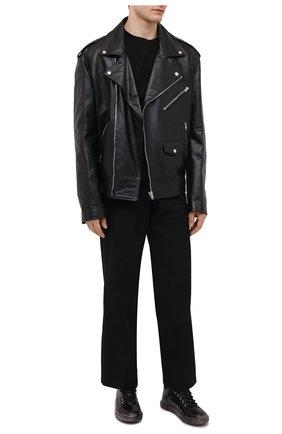 Мужские кожаные кеды blabber GIUSEPPE ZANOTTI DESIGN черного цвета, арт. RU00075/002 | Фото 2