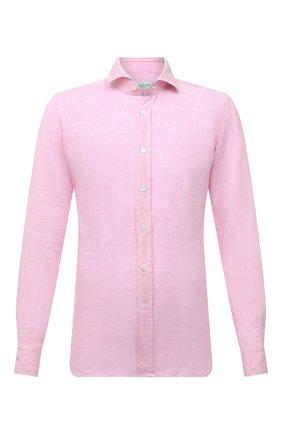 Мужская льняная рубашка BAGUTTA розового цвета, арт. ANDREA_EBLW/00045 | Фото 1