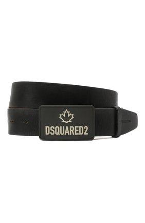 Мужской кожаный ремень DSQUARED2 черного цвета, арт. BEM0311 12900001 | Фото 1
