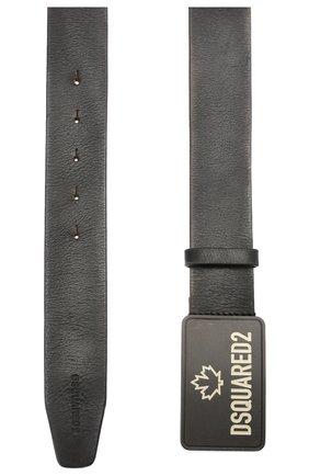 Мужской кожаный ремень DSQUARED2 черного цвета, арт. BEM0311 12900001 | Фото 2