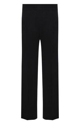 Мужские хлопковые брюки VERSACE черного цвета, арт. A89407/A231242 | Фото 1 (Длина (брюки, джинсы): Стандартные; Материал внешний: Хлопок; Мужское Кросс-КТ: Брюки-трикотаж; Случай: Повседневный; Стили: Спорт-шик)