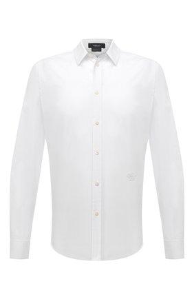 Мужская хлопковая рубашка VERSACE белого цвета, арт. A89274/A222394 | Фото 1