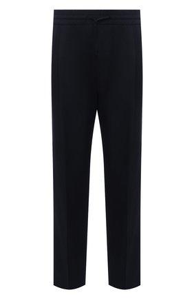 Мужские шерстяные брюки VERSACE темно-синего цвета, арт. A88845/1F00737 | Фото 1