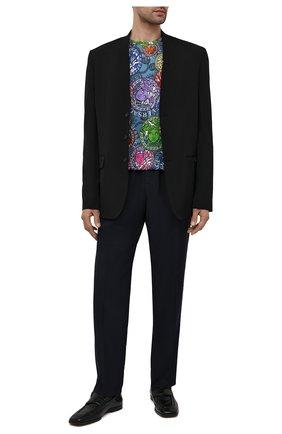 Мужские шерстяные брюки VERSACE темно-синего цвета, арт. A88845/1F00737 | Фото 2