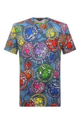 Мужская хлопковая футболка VERSACE разноцветного цвета, арт. A77276/1F01065 | Фото 1
