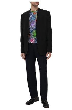 Мужская хлопковая футболка VERSACE разноцветного цвета, арт. A77276/1F01065 | Фото 2