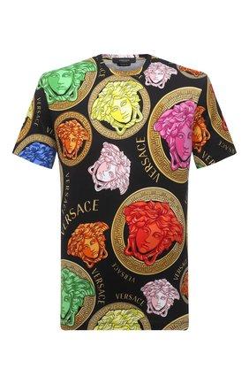 Мужская хлопковая футболка VERSACE разноцветного цвета, арт. A77276/1F01063 | Фото 1
