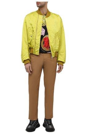 Мужская хлопковая футболка VERSACE разноцветного цвета, арт. A77276/1F01063 | Фото 2