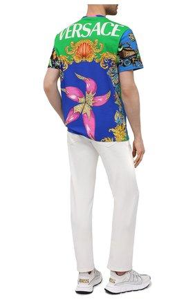 Мужская хлопковая футболка VERSACE разноцветного цвета, арт. A76113/1F01159 | Фото 2