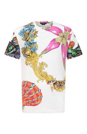 Мужская хлопковая футболка VERSACE разноцветного цвета, арт. A76113/1F01159   Фото 1 (Материал внешний: Хлопок; Длина (для топов): Стандартные; Рукава: Короткие; Стили: Бохо; Принт: С принтом)