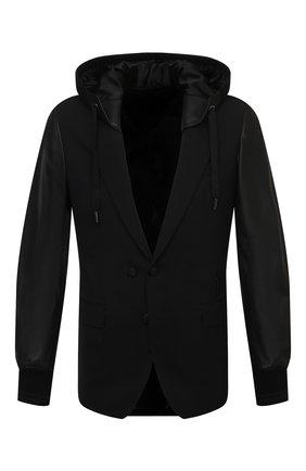 Мужская комбинированная куртка DOLCE & GABBANA черного цвета, арт. G2PN9Z/FUBEC | Фото 1