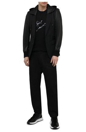 Мужская комбинированная куртка DOLCE & GABBANA черного цвета, арт. G2PN9Z/FUBEC | Фото 2