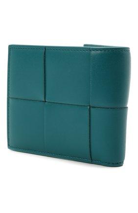 Мужской кожаное портмоне BOTTEGA VENETA бирюзового цвета, арт. 649605/VBWD2 | Фото 2